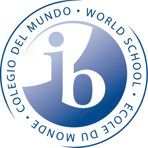 Logo for IB World School organization.